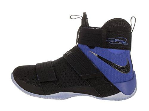 Nike Mens Lebron Soldat 10 Sfg Basket Sko Svart / Svart-game Royal