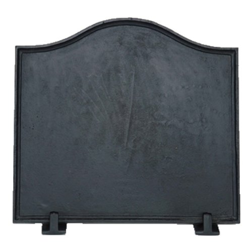 Shop Chimney Black Cast Iron Plain Fireback - 16 x 17.5 inch by Shop Chimney