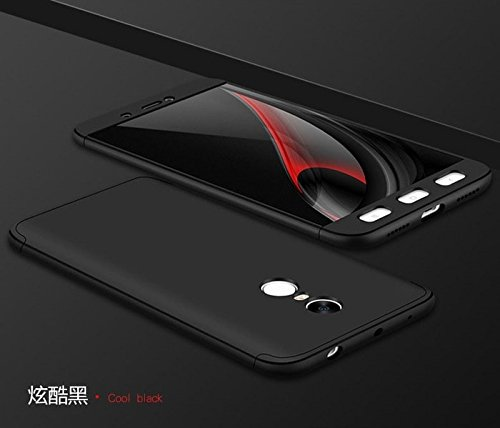 on sale 519b0 45a84 XIAOMI REDMI NOTE 5 IPAKY CASE (FRONT+BACK+GLASS) BLACK: Amazon.in ...