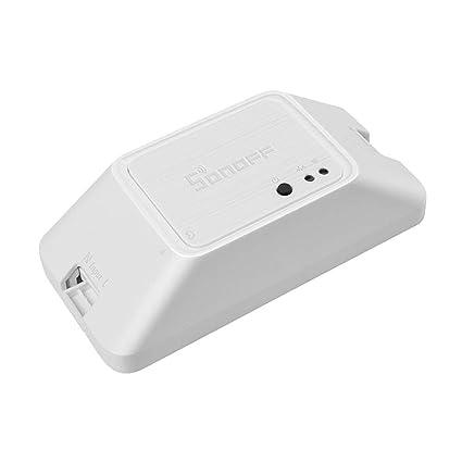 Docooler SONOFF RFR3 WiFi DIY Interruptor Inteligente 433 MHz Control Remoto App M/ódulo de Inicio Trabaje con Alexa Google Home
