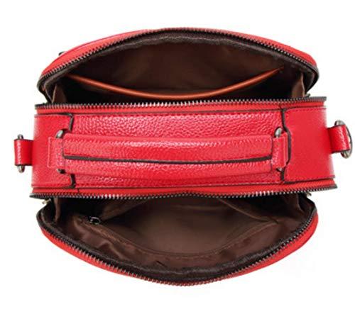 A Borsa Donna Casual Quadrata Borse Tracolla Retrò Piccola Borse Moda Red Borsa TpdxYwxqzS