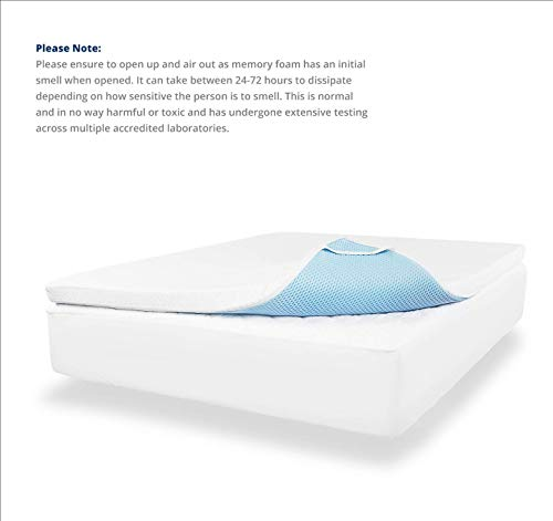 ViscoSoft 3 Inch 3.5 lbs. Density Gel Memory Foam Mattress Topper (Queen) – Includes Ultra Soft Removable Cover with Adjustable Straps