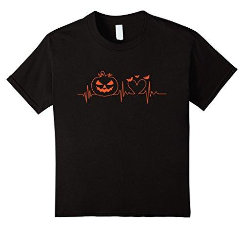 Kids Pumpkin Heartbeat T-Shirt - Scary Halloween Costume Idea 4 (Black People Halloween Costumes Ideas)