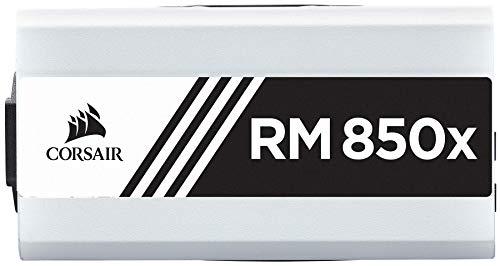 CORSAIR RMX White Series (2018), RM850x, 850 Watt, 80+ Gold Certified, Fully Modular Power Supply - White (Renewed)