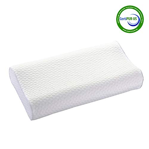 Iyee Nature Memory Foam Pillow Adjustable Bed Pillow for Neck Pain, Neck Support,CertiPUR-US