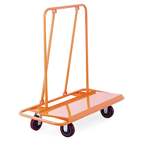 Mophorn Drywall Cart 3000Lbs Load Capacity Drywall Cart Dolly Handling Sheetrock Sheet Panel Service Cart Heavy Duty Casters (3000LBS) (Capacity Service Cart)