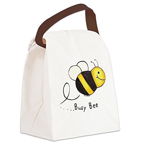 (CafePress - Busy Bee Canvas Lunch Bag - Canvas Lunch Bag with Strap Handle)