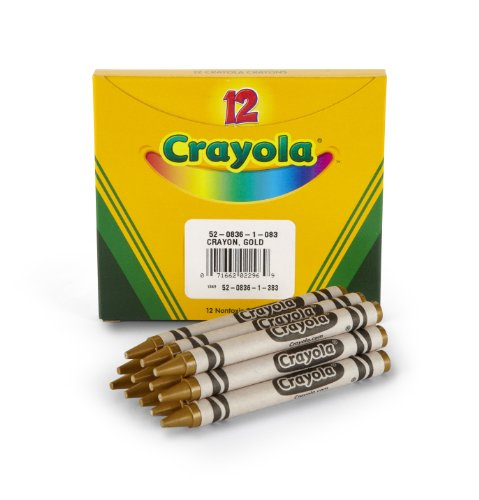 Crayola Bulk Crayons, Gold (12 Count) Great for Kids Classrooms or Preschools, Non-Toxic Art Tools for Kids 4 & Up