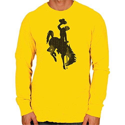NCAA Wyoming Cowboys Men's Long Sleeve Tee, Medium, Gold