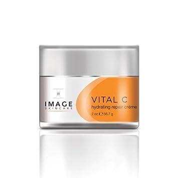 Image Vital C Hydrating Repair Creme, 2 Oz Celavi Essence Facial Mask Paper Sheet Korea Skin Care Moisturizing 24 Pack (Collagen)