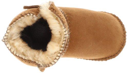 Minnetonka Sheepskin Pug Boot, Mocasines para Bebés Beige (Tan)