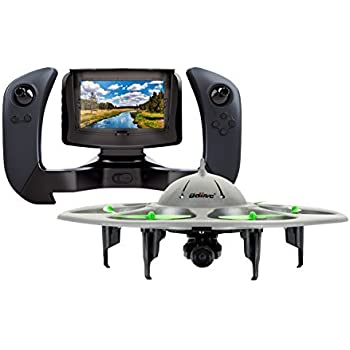 UDI RC U845 WiFi FPV UFO Drone with HD Camera 2.4GHz 4CH 6Axis Gyro RTF Quadcopter with Low Voltage Alarm Gravity Induction and Headless Mode Includes BONUS BATTERY