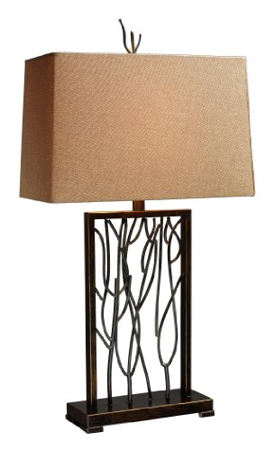 Dimond D1518 Belvior Park Table Lamp, Aria Bronze and Iron