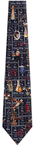 SCIENCE-205 - Periodic Table Tie Navy Brown Red