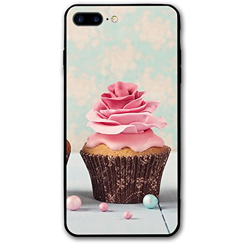 IPhone 8Plus 7Plus Case Roses Cupcake Heart Sturdy Phone Cover Cases Shockproof -