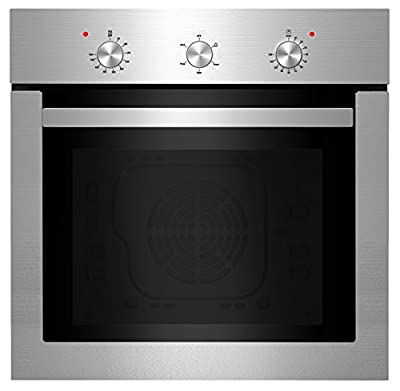 "Empava 24"" Stainless Steel Push Buttons Electric Built-in Economy Single Wall Ovens KQP65A-01"