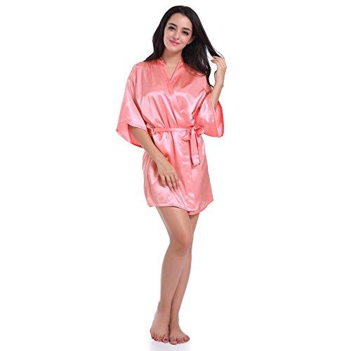 a Rossa Sposa Stampa Camicie Pigiami Notte Kimono Anguria e da Vestaglie Caldo e BOYANN qFEfxROO