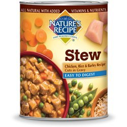 Nature's Recipe Easy to Digest Chicken, Rice and Barley Cuts in Gravy Canned Dog Food 13.2oz (12 in case)