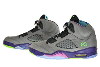 buy popular adead a1f48 Jordan Air 5 Retro Bel Air Fresh Prince Men's Shoes Cool Grey/Club  Pink-Court Purple-Game Royal 621958-090 (Size 10.5)