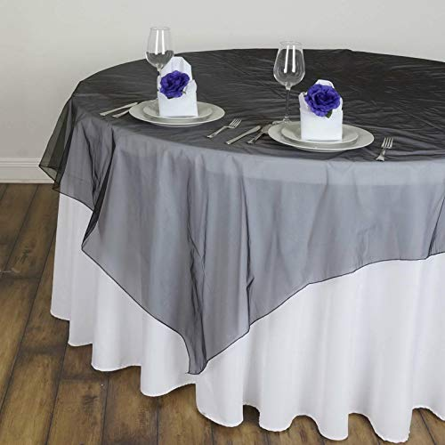 (Mikash 20 Pack 60x60 Sheer Organza Overlay Wedding Party Banquet 20+ Colors!   Model WDDNGDCRTN - 21508  )