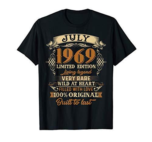 Vintage July 1969 50th birthday 50 Years old Tee