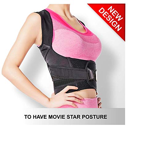 Top Back Brace Posture Corrector | Fully Adjustable | Improves Posture and Provides Lumbar Back Support | for Lower and Upper Back Pain and Slouching | Men and Women -Size S for sale