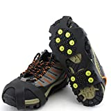 RoJuicy Non-Slip Shoe Cover Ice Snow Grips Shoe Boot Traction Cleat Rubber Spikes Anti Slip Mountaineering