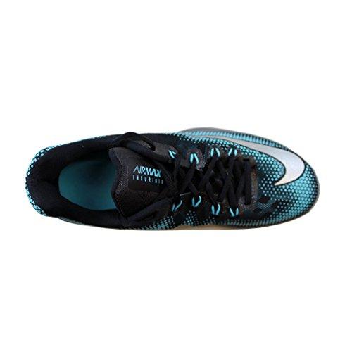 Nike Mens Air Max Infuriate Scarpe Basse Nero Argento Grigio Scuro Taglia 9.5