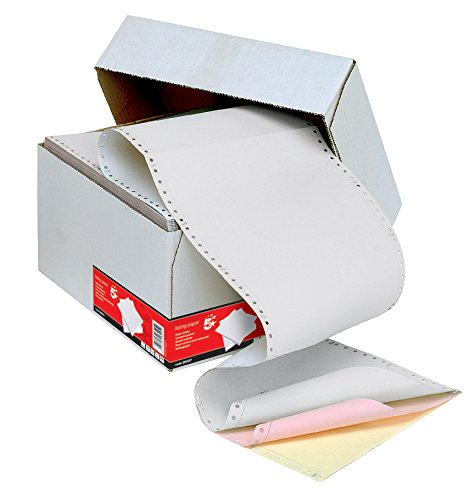 5 Star Listing Paper 3-Part Microperforated Carbonless A4 3 Colours [700 Sheets] 29542X