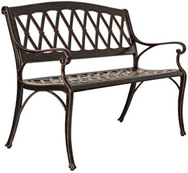 Patio Sense 63005 Hargrove Patio Bench, Antique Bronze