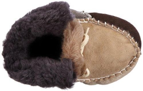 Playshoes Baby Lammfellschuhe multicolor mit Schnürung 105914 Unisex-Baby Krabbelschuhe Braun (original 900)