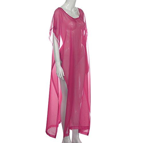 VENMO Bikini Mujer Cubrir Traje de Baño de Playa Vestido de Camisa de Baño Rosa caliente