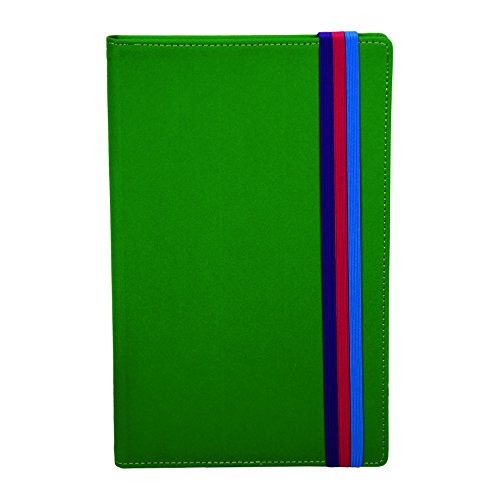 Samsill Fashion Notebook Diary with Pocket, Hardbound Cover, 5.25 x 8.25 Inch Green
