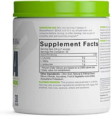 MP Essentials BCAA Powder, Post-Workout Recovery Drink, Fruit Punch, 30 servings 5