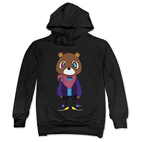 Feniay Kanye West Bear Dropout Bear Men's Hooded Sweatshirt