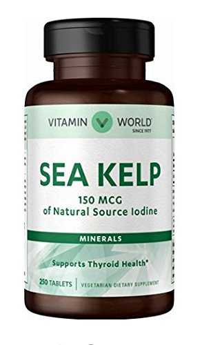 Sea Kelp 150 mcg of Natural Source Iodine 250 Tablets