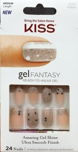 Kiss Gel Fantasy Ready to Weargel 24 Nail Amazing Gel Shine Ultra Smooth Finish