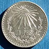 Uncirculated 1938 Mexican Silver Peso