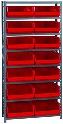 (Quantum Storage Systems QSBU-250RD Giant Open Hopper Steel Shelving System, 12