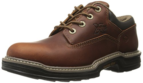 Wolverine Men's Raider Oxford Contour Welt Work Boot, Brown, 13 M (Wolverine Oxford Shoe)