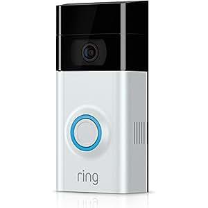 Ring Video Doorbell 2 - Videoportero 1080 HD, comunicación bidireccional, detección de movimiento y conexión wi-fi, Níquel Satinado