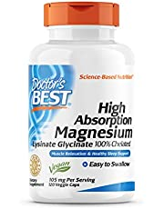 Doctor's Best High Absorption Magnesium Lysinate Glycinate, Easy to Swallow, Supplement for Sleep, Stress & Anxiety Relief, Leg Cramps, Headaches, Energy, Muscle Relaxation 120 Ct