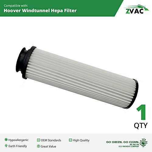 Hepa Generic Filter Vacuum (1 Hoover Windtunnel Washable HEPA Filters Generic Part By ZVac. Replaces Part Numbers 471062, 40140201, 43611042, 42611049, F923, 923 Fits: All Hoover Bagless Upright Models)