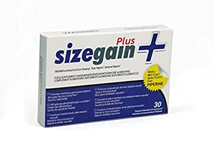 SizeGain Plus Male Enhancement, Nahrungsergänzungsmittel lang by supatcha