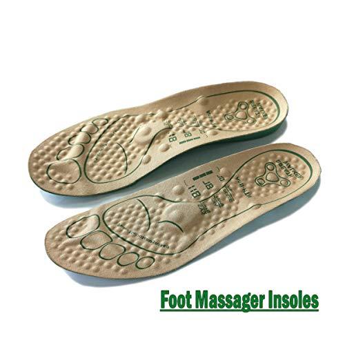 BREATH WALKER Foot Massager Insoles for Men and Women Shiatsu Acupressure Feet Reflexology Pain Relief