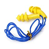 Enking 24dB Silicone Gel Tri-Flange Plug Hearing Protection Muff With Cord
