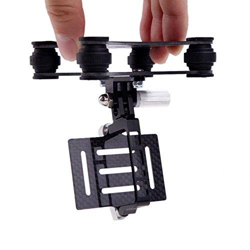 GoolRC Gimbal FPV Camera Mount with Anti Vibration Plate for DJI Phantom Walkera Qr X350 Gopro Hero 3 3+ 4 CF Carbon Fiber