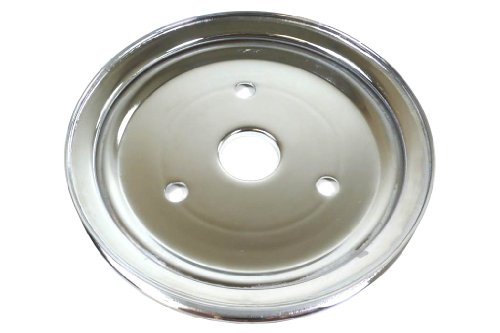 Racer Performance Chevy Small Block Chrome Steel Crankshaft Pulley - Short (1 Groove)