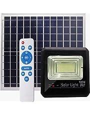 كشاف طاقة شمسية أضاءه بيضاء ليد120 واط ضد الماء بريموت تحكم يعمل طوال الليل