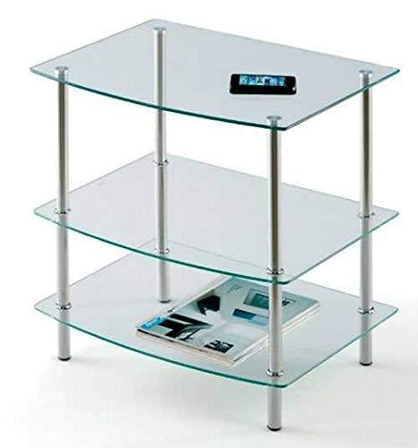 Mobistic - Mesa Television Ever Cristal 3 estantes: Amazon.es: Hogar